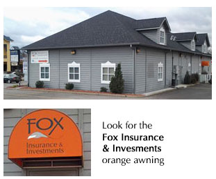 image of exterior of office building - look for the orange awning